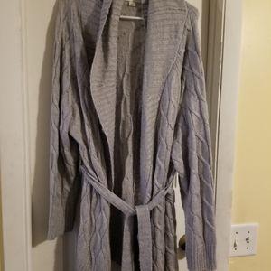 Ava & Viv grey belted cardigan
